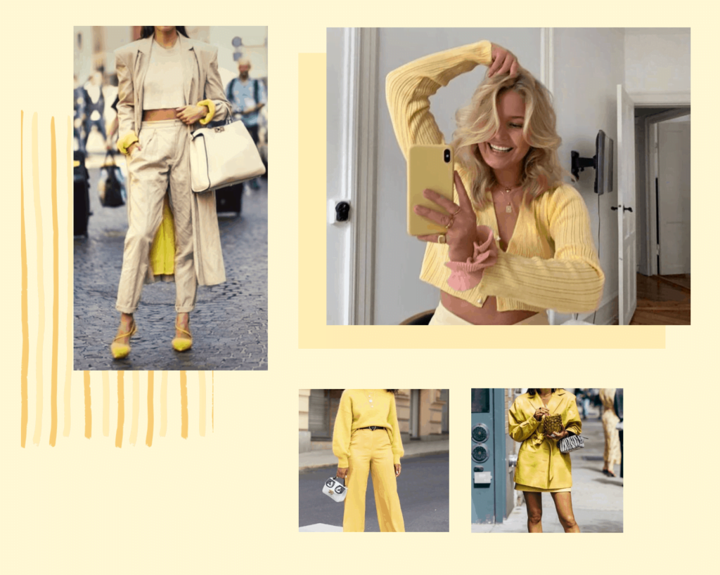 Yellow colour is a major spring/summer 2021 fashion trends of 2021